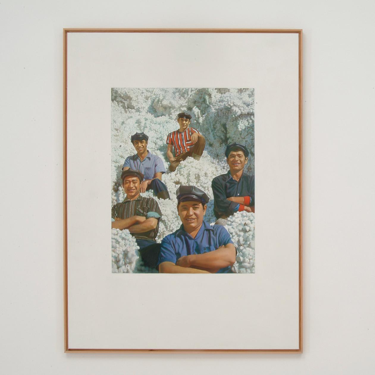 Mi lapul a gyapotszedők mosolya mögött? – Lakner László festményének titka a Ludwig Múzeum kiállításán